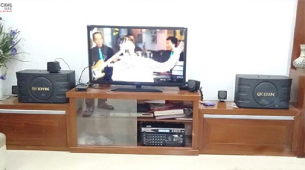 Lắp đặt dàn karaoke gia đình hay, giá tốt cho chị Hiền tại Thanh Trì (Hà Nội )
