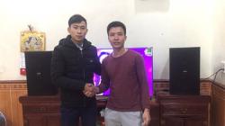 Lắp đặt dàn karaoke gia đình BC-T18GD cho anh Chí tại Vĩnh Phúc