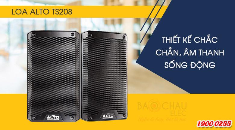 Loa active Alto TS208 (full bass 20cm) Thiết kế chuyên nghiệp tạo ra sự cân bằng lý tưởng