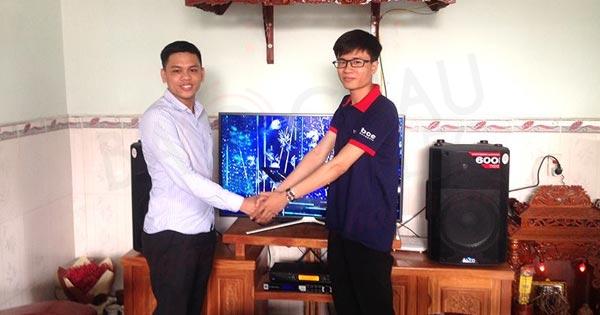 Lắp đặt dàn karaoke gần 26 triệu cho gia đình anh Bồng ở Trảng Dài (Biên Hoà)