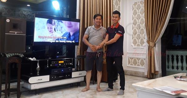 Lắp đặt dàn karaoke gia đình cao cấp cho anh Hải tại P. Tân Phong - Biên Hòa