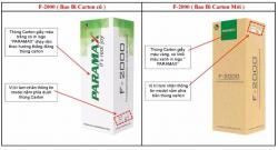 [Thông báo] Thay đổi mẫu bao bì sản phẩm Paramax F-2000