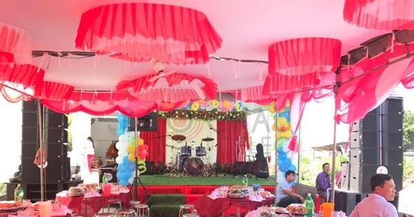 Lắp đặt dàn âm thanh line array sự kiện, đám cưới ngoài trời tại Kiên Giang