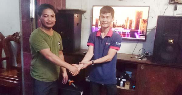 Lắp đặt dàn karaoke gia đình hơn 65 triệu cho anh Đạt ở Tân Phú - TPHCM