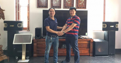 Lắp đặt dàn karaoke gia đình hơn 80 triệu cho bác Gan tại Hải Phòng