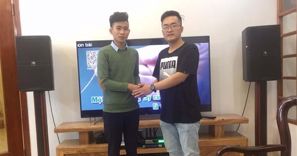 Lắp đặt dàn karaoke JBL gia đình anh Long quà 8/3 cực chất tại TP Thanh Hóa