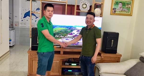 Lắp đặt dàn karaoke gần 22 triệu cho gia đình anh Tân tại Hải Phòng