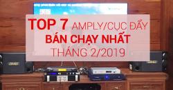 Top 7 amply/cục đẩy karaoke hay, bán chạy nhất tháng 2/2019