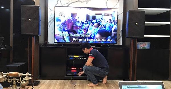 Dàn karaoke cao cấp 70 triệu đồng của chú Khánh tại Green Bay