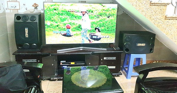 Dàn karaoke gia đình hơn 30 triệu cực hay, chuẩn của anh Tuấn ở Cẩm Lệ, Đà Nẵng