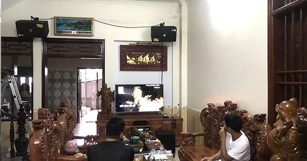 Dàn karaoke JBL hơn 70 triệu của gia đình anh Tuấn ở Hưng Yên