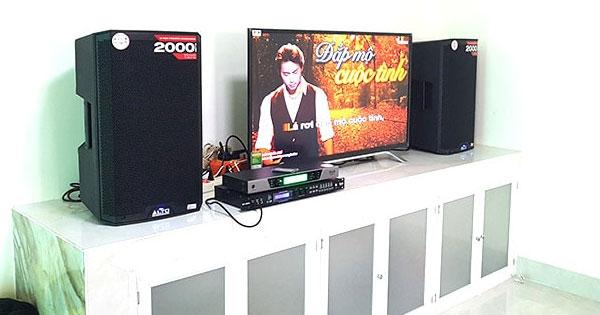 Dàn karaoke liền công suất của gia đình anh Dũng ở Quận 7, HCM