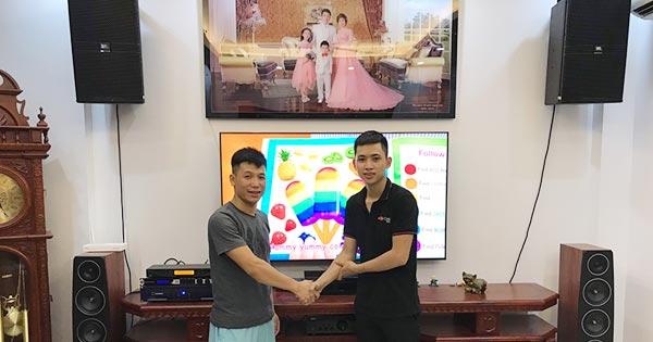 Lắp đặt dàn karaoke hơn 60 triệu cho gia đình chị Thu tại Hà Đông, Hà Nội