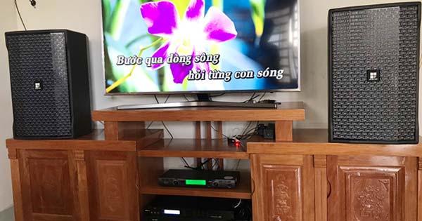 Lắp ráp dàn karaoke gia đình hơn 20 triệu của anh Khánh tại Hóc Môn TPHCM