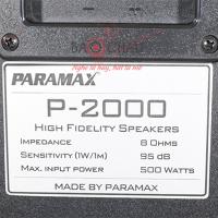Mặt sau Loa Paramax P2000 new