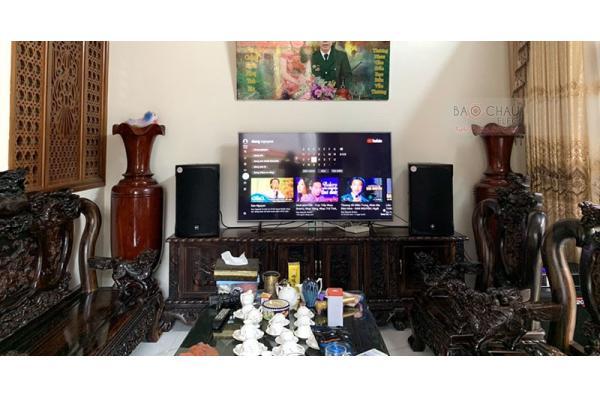 Lắp đặt dàn karaoke cao cấp của gia đình chị Thắng ở Đan Phượng, HN