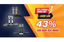 Ngày vàng: Top 3 Micro không dây GIẢM LỚN 43% săn ngay kẻo muộn