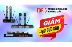 Top 5 micro karaoke không dây khuyến mãi giảm cực sâu, không tậu nhanh là hết