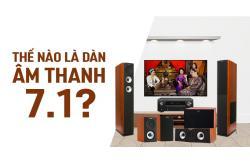 Thế nào là dàn âm thanh 7.1? Bao gồm những thiết bị nào?