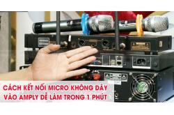 Cách kết nối micro không dây vào amply dễ làm trong 1 phút