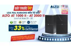 Đặt trước giảm SỐC tới 33% Loa full karaoke Alto thương hiệu Mỹ