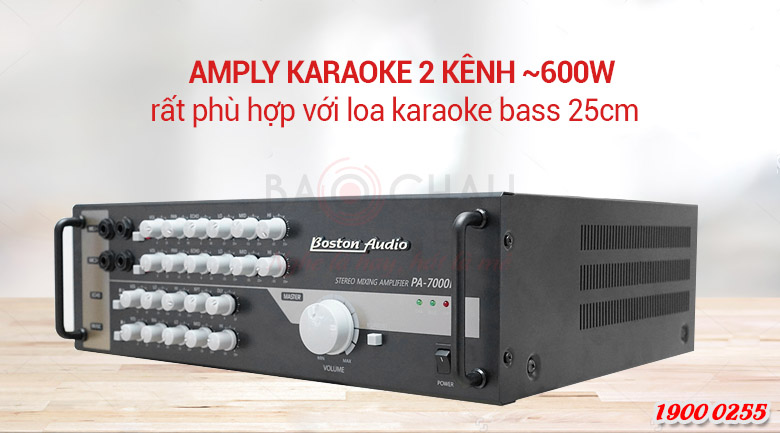 Amply Boston audio PA-7000N với loa bass 25cm