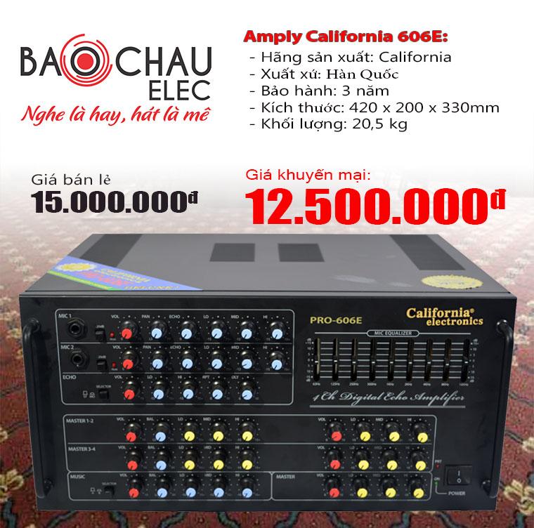 Amply California pro 606E Nhật Hoàng