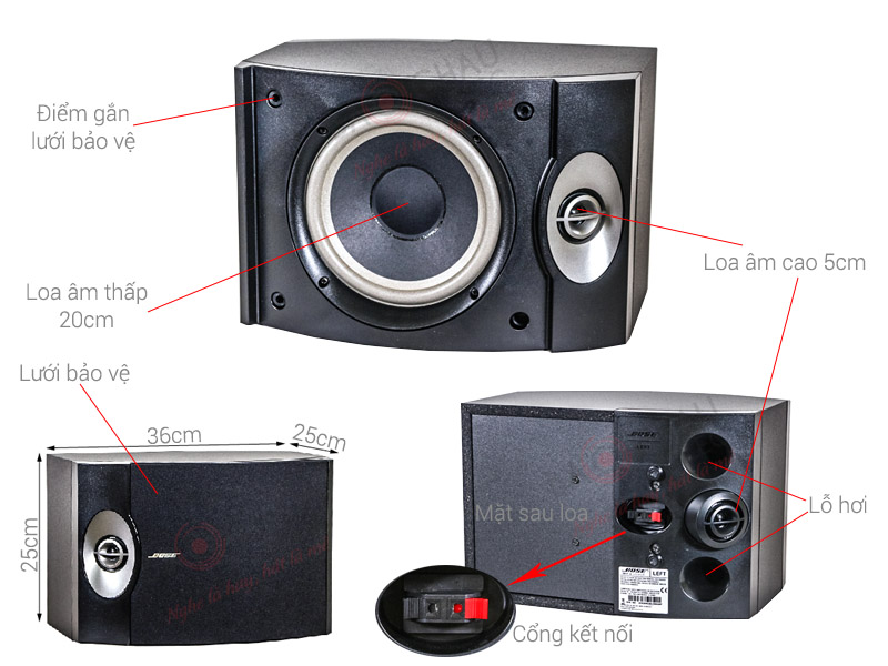 Loa Karaoke Bose 301 Series V (bass 20cm)