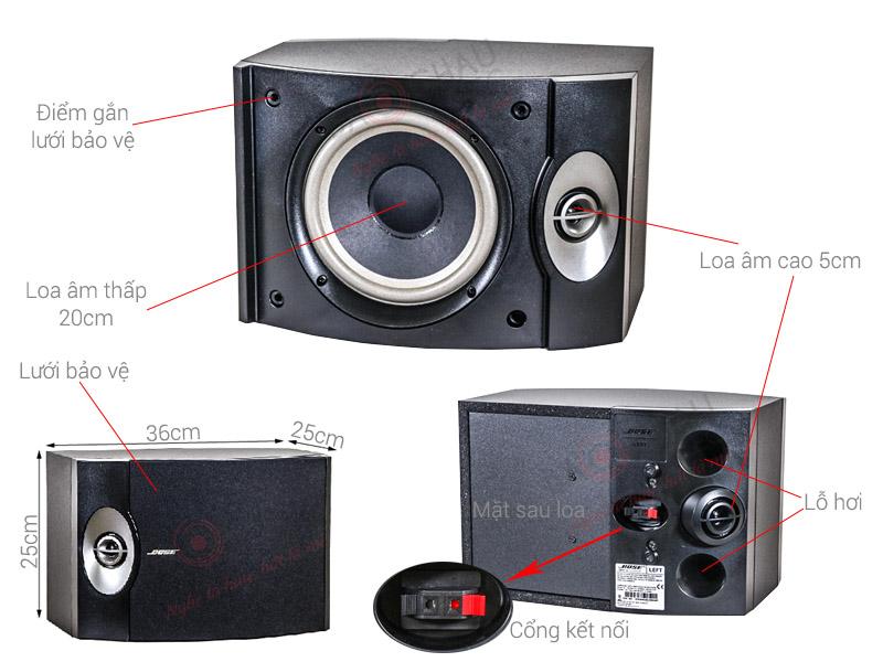 Loa Bose 301 Series V Mỹ (bass 20cm)