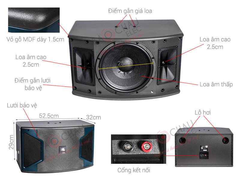 Loa JBL Ki310 (Ba Sao) (bass 25cm)