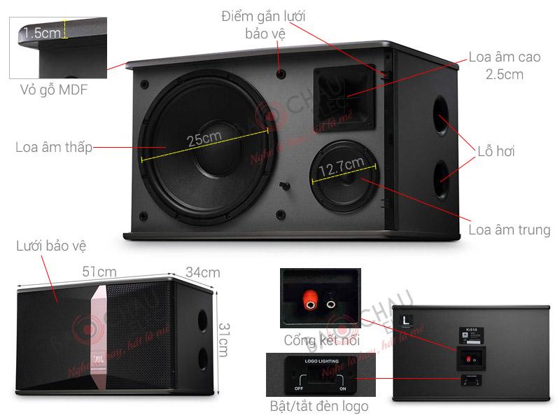 Loa Karaoke JBL Ki510 (Ba Sao) (bass 25cm)