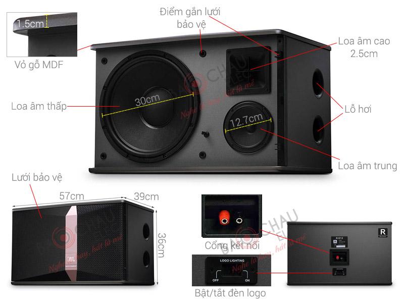 Loa Karaoke JBL Ki512 (Ba Sao) (bass 30cm)