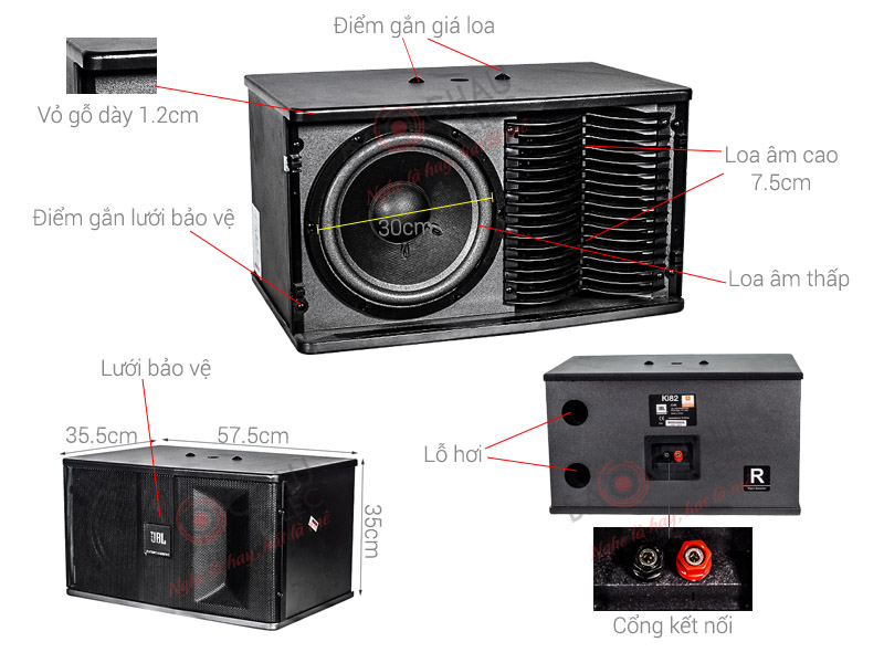 Thông số kỹ thuật Loa JBL Ki82