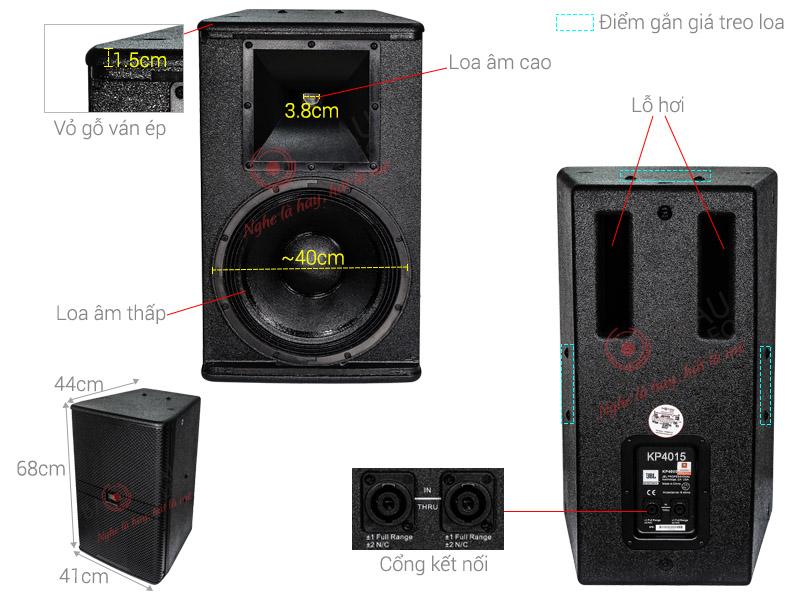 Thông số kỹ thuật Loa JBL KP 4015