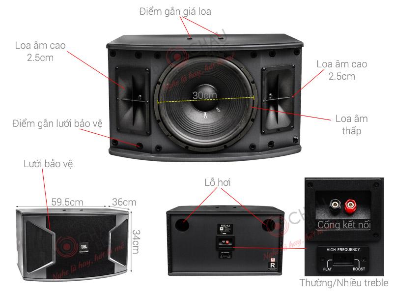 Thông số kỹ thuật Loa karaoke JBL KS 312