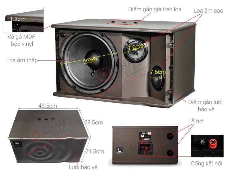 Loa Karaoke JBL MK08 (bass 20cm)