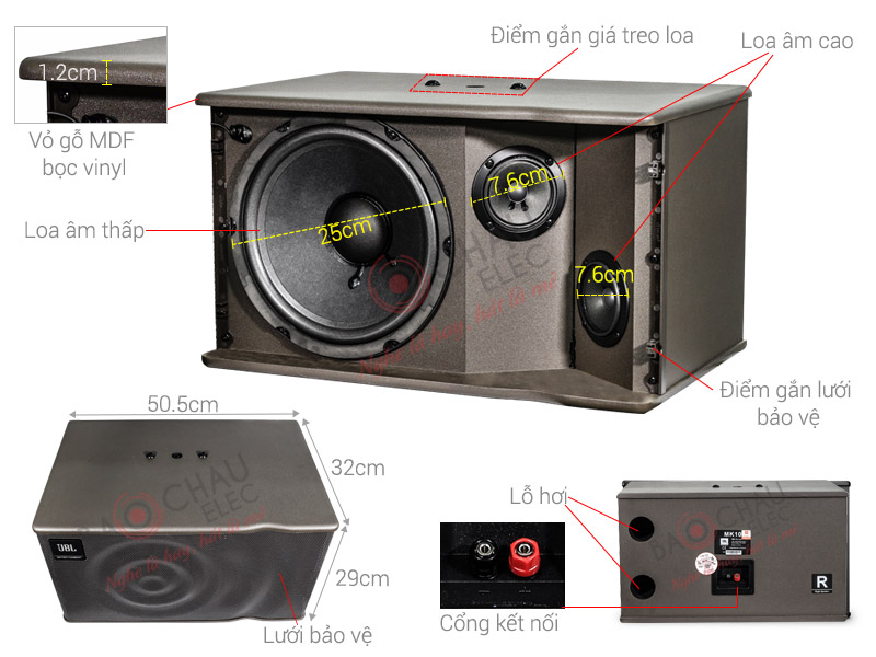 Loa Karaoke JBL MK10 NK Ba Sao (bass 25cm)