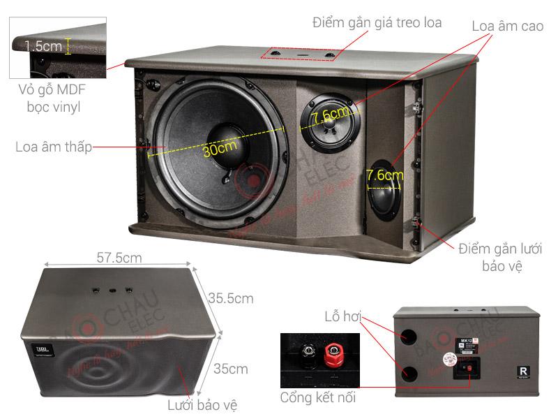 Loa Karaoke JBL MK12 NK Ba Sao (bass 30cm)