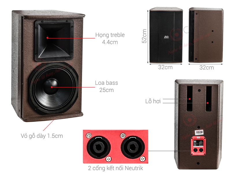 Loa Karaoke AS CK-310 (Full bass 25cm)