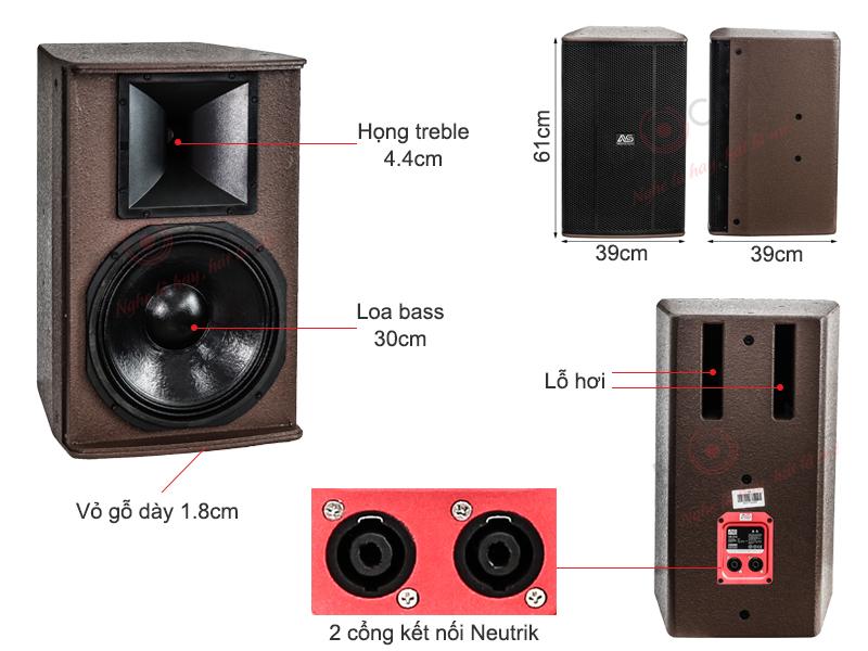 Loa AS CK-312 (Full bass 30cm)