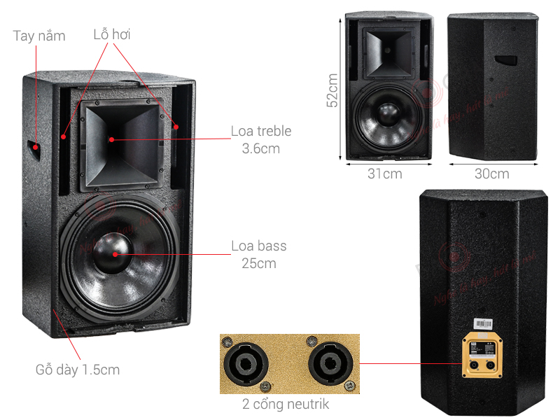 Loa Karaoke AS CR-210 (Full bass 25cm)