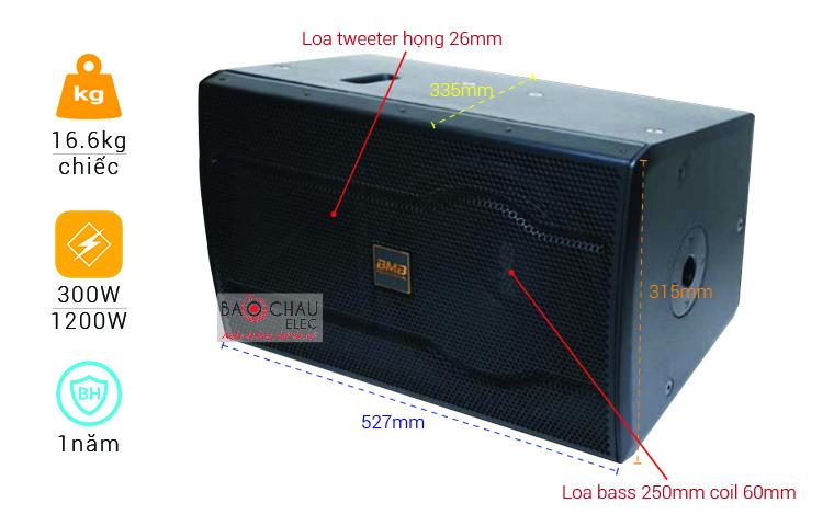 Loa Karaoke BMB CSS-2010(C) Like new (full bass 25cm)