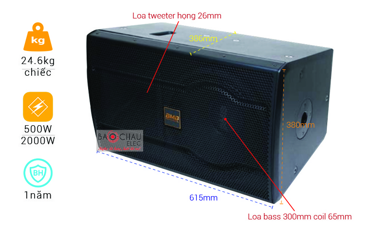 Loa BMB CSS-2012(C) Like new (full bass 30cm)