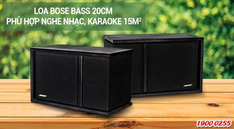 Loa Bose 301 series III với phòng 15m2