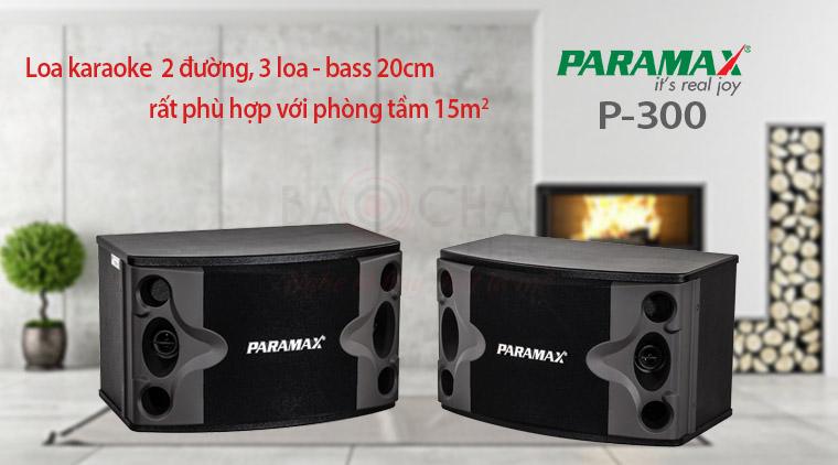 Loa Paramax P-300 với phòng 15m2