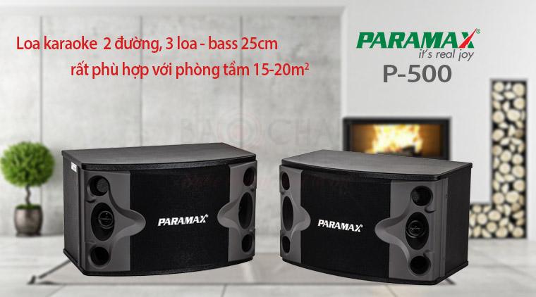 Loa Paramax P-500 với phòng 15-20m2