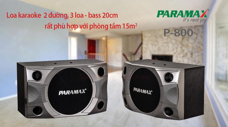 Loa Paramax P-800 với phòng 15m2