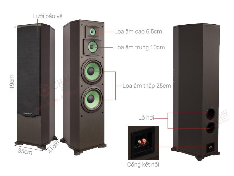 Loa Karaoke Paramax F2000 new (2 bass 25cm)
