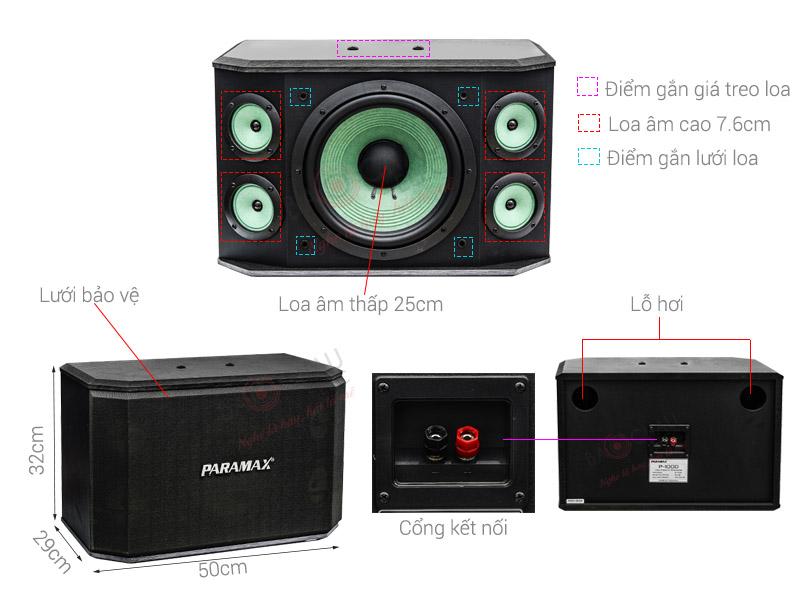 Thông số kỹ thuật Loa karaoke paramax P-1000