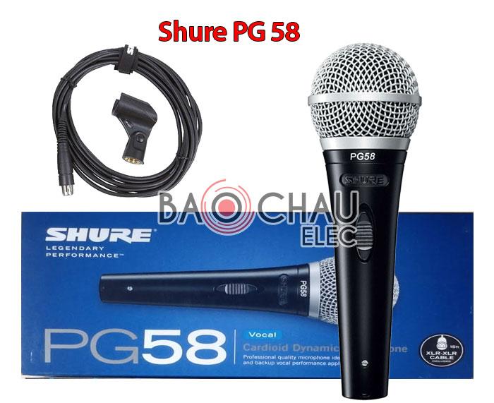 Micro Shure PG58 chính hãng, giá tốt